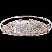 Antique Silver Quadruple Plated Bread Basket, Apollo Silver Company