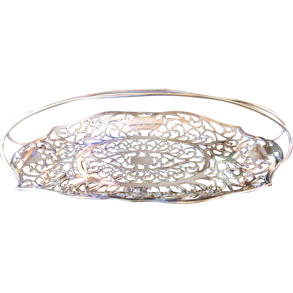 Antique Silver Quadruple Plated Bread Basket, Apollo Silver Company