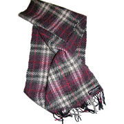 "62"" Long Scottish Pure Cashmere Plaid Scarf"