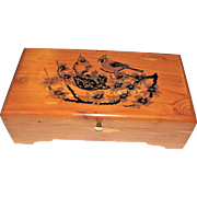 Large Wooden Cardinal Bird Jewelry Box, Charming!
