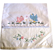 2 Embroidered Child's Pillow Shams, Cute!