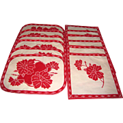 12 Piece Cotton Batik Placemat & Napkin Sets