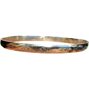 Mexican Sterling Stacking Bangle w/ Stamp Design