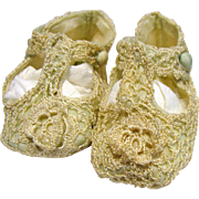 Darling Vintage Crochet Shoes for Larger Doll