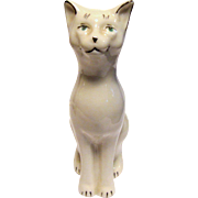 Whimsical Belleek Porcelain Cat Figurine