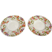 "Two 5 1/8"" French Limoges Plates by J Pouyat"