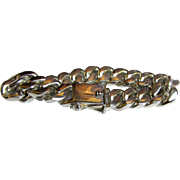 "Men's 134 gm 9"" Sterling Cuban Curb Bracelet"