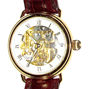Stauer Mechanical Skeleton Gold Tone Wrist Watch