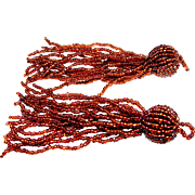 A PAIR of Glass Seed Bead Tassels (for keys, embellishments etc).
