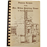 Harris, Famous Recipes from Mrs Wilkes Boarding House in Historic Savannah Cook Book 1980 1st Revision