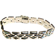 Milor Sterling 7 1/4' Panther Link Bracelet, 26 grams