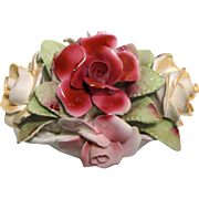 Large Royale Stratford Fine Bone China Roses in Basket