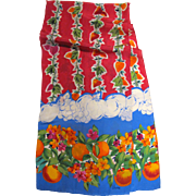"Vibrant ""Vera"" Fruit Design 50"" Long Rayon Scarf"