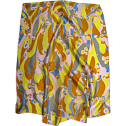 "1960's Psychedelic 46"" Long Silk Scarf"