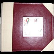 Norman Rockwell, Leather Photo Album, Wedding or Family Photographs, Like New