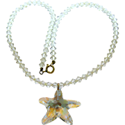 Summery Crystal Necklace w/ Swarovski Starfish