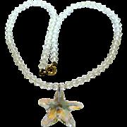 Summery Crystal Necklace w/ Swarovski Starfish