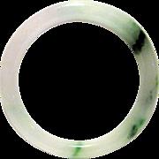"""8 mm Natural Jade Bangle, 2 1/4"""" Diameter"""
