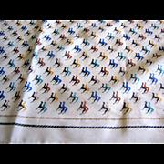 Amusing Italian Dog Design Sq Polyester Scarf