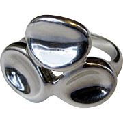 Robert Lee Morris Modernist Sterling Ring Size 10, 11 grams