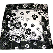 "34"" Sq Polyester Floral Graphic Scarf"