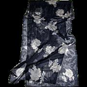 """Morgan Taylor 60"""" Navy Polyester Chiffon Rose Scarf"""