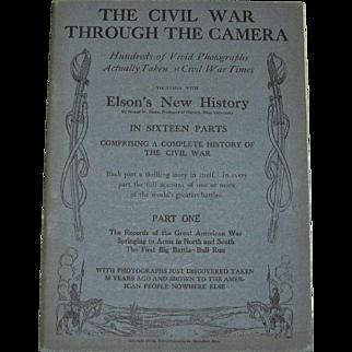 The Civil War Through the Camera 1912, Elson, Civil War History, Part 1, Mint