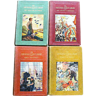 The New Human Interest Library Vol. 1 - 4, Vintage 1928