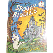 Spooky Riddles (Beginner Books(R)) by Marc Brown, HC, Beautifully Illustrated, Children 5-8 years olds