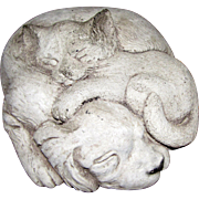 Animal Accents Pueblo Colorado Cat & Dog Sculpture, Whimsical