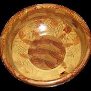 Heirloom Artisan Heart of Pine Large Wooden Bowl, G. Tanner
