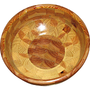 Heirloom Artisan Heart of Pine Large Wooden Bowl, G. Tanner