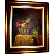 Beautiful Still Life, Acrylic on Canvas w/ Gilt Wood Frame