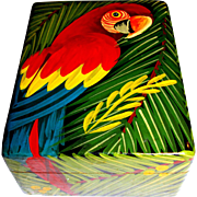 Fun Hand Painted Wooden Parrot Box