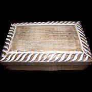 Sturdy Limed Oak Storage Box with Rope Border