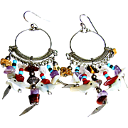 Boho Mexican Earrings w/ Little Birds!