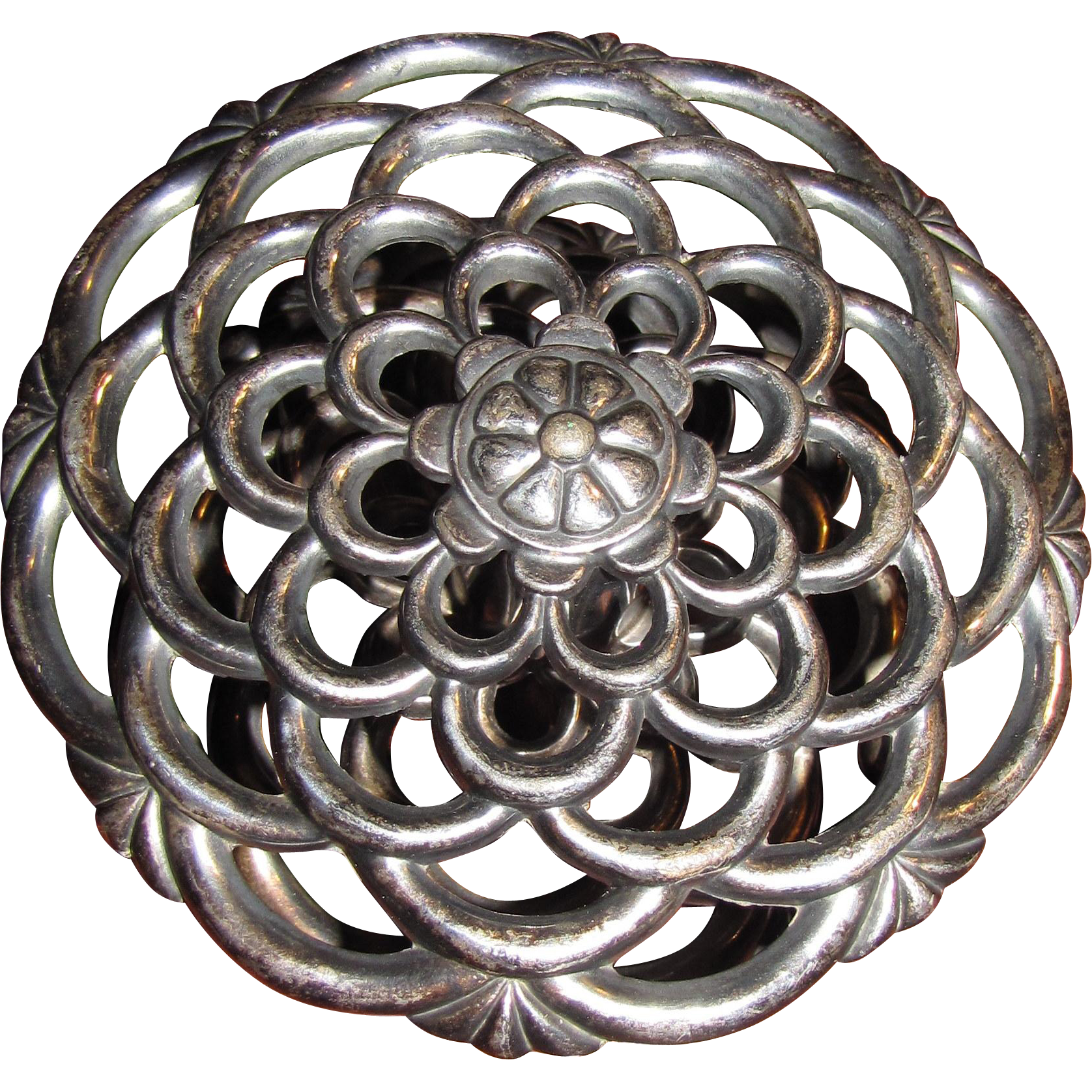 Early Gorham Silver Plated Flower Frog