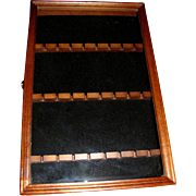 Wooden 24 Slot Souvenir Spoon Wall Case