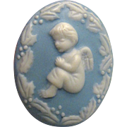 Darling Jasperware Pin of Little Angel