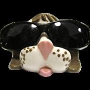 Humorous Ceramic Dog Spectacle Holder