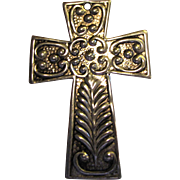 Hand Hammered Silver Metal Cross Bookmark