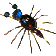 1940's Reinad Bug Pin w/ Rhinestone Body