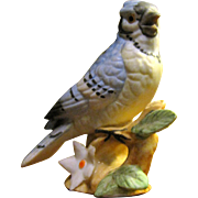 Lefton Blue Jay on Dogwood Figurine # 00749