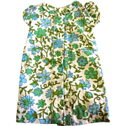 Sweet 70's Cap Sleeve Shift Dress for Medium Doll