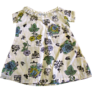 Cute Vintage Shift Dress w/ Lace Collar for Medium Doll