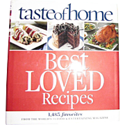 Taste of Home Best Loved Recipes, HCDJ, Like New