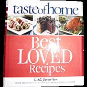 Harris, Taste of Home Best Loved Recipes, HCDJ, Like New