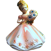 Josef Originals September Birthday Flower Girl Figurine, Cute!