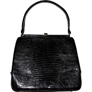 "1950's ""Escort"" Lizard Handbag, Nr Mint"