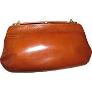 Italian Leather 3 Way Convertible Clutch / Hand / Shoulder Bag